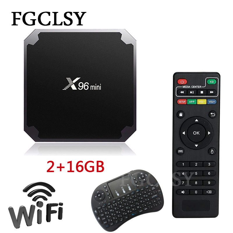 FGCLSY X96 mini TV BOX Android 7,1 OS Smart TV Caja 2 GB 16 GB Amlogic S905W Quad Core 2,4 GHz 1 GB 8 GB X96mini WiFi Set top box