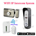 WIFI Intercom System Wireless Doorbell IP Intercom Door Phone Video Night Vision Supports iOS & Android Apps