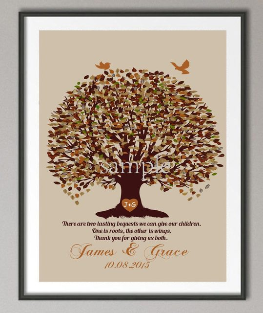 Personalized Couples Wedding Anniversary gifts Family tree quote wall art poster print pictures canvas painting wall & Personalized Couples Wedding Anniversary gifts Family tree quote ...