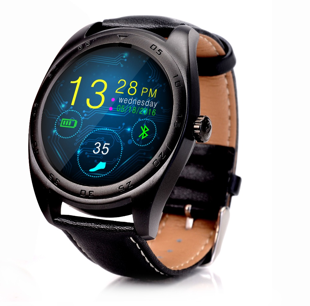 Kuddly K89 herz rate monitor <font><b>smart</b></font> <font><b>watch</b></font> IP54 Wasserdichte Super Smartwatch Traditionelle klassische uhr design touch screen image