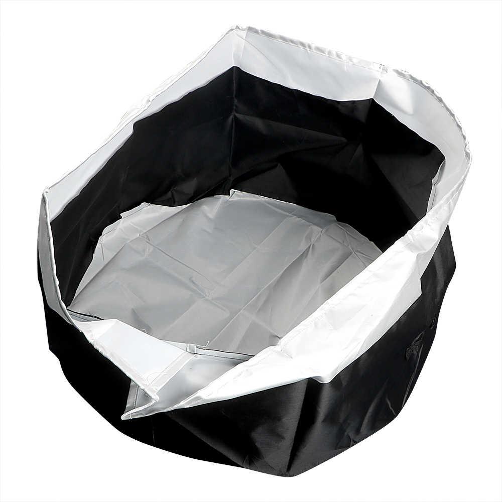 4 pçs/set Ajustável À Prova D' Água Oxford Prático Sombra de Sol Do Carro Tampa Do Pneu de Reposição Tamanho S/L Pneu Auto Fechado Bolsa saco