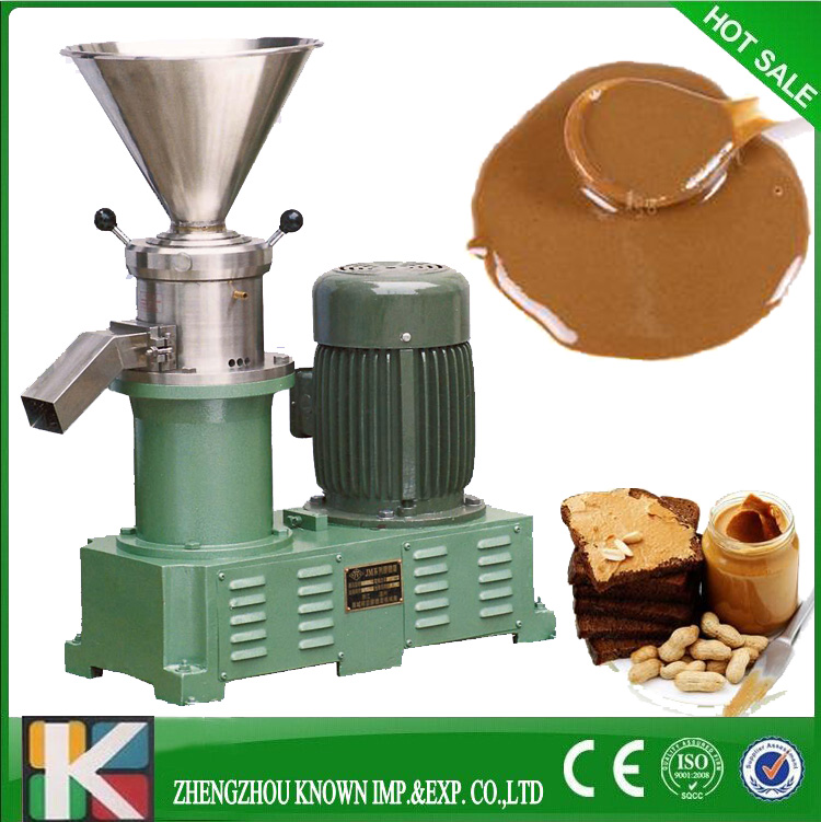 Hot sale 80 colloid mill peanut butter making machine bitumen sesame paste grinder machine 220v 1pc mini dry wet eletric stone grain mill sesame butter machine peanut butter machine corn crusher stone mill soymilk