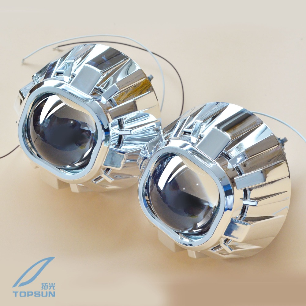 Car External Lights 3.0 inch Q5 Square Bi-xenon Lens Projector HID Headlight Full Metal Headlamp Lenses H4,Use D2S D2H Bulbs 2 5 mini bi xenon projector lens can use with d2s d2h hid xenon bulb for h4 car headlamp easy install