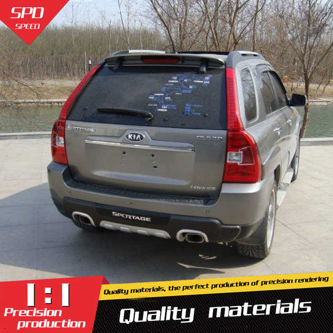 For Kia Sportage Spoiler High Quality ABS Material Car Rear Wing Primer Color Rear Spoiler For Kia Sportage Spoiler 2007-2013