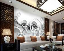 3d wallpaper for room Smoke circle dynamic lines classic wallpaper for walls mural 3d wallpaper(China)