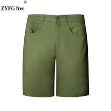 2018 Fashion Summer style Mens Shorts New Arrivals Cotton Slim washing solid color personality Casual shorts men EU/US size XXL