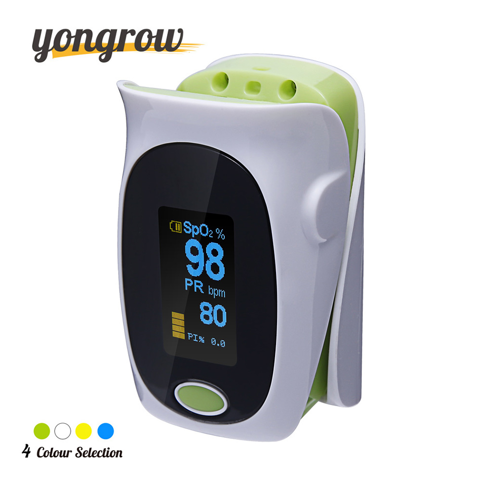 yongrow New Upgrade Finger Pulse Oximeter Portable Fingertip Pulse Oximeter Pulsoximeter SPO2 PR PI Auto-rotate Oximetro de dedo new finger pulse oximeter accurate oximetro for medical equipment and daily sports fitness pulse rate alarm meter pr spo2 ce