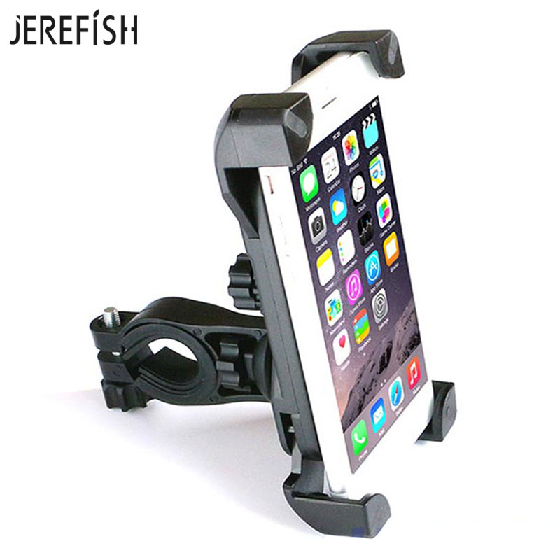 JEREFISH Bicycle Accessories Handlebar Clip Mount Bracket Bike Mobile Phone Holder Stand for iPhone 6s plus Samsung Bike Holder Сотовый телефон