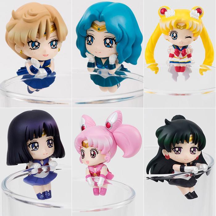 Free Shipping Cute 6pcs Anime Sailor Moon Tea Cup Decorations Vol. 2 PVC Action Figure Collection Model Dolls Toy (6pcs per set) free shipping 2015 yr new tea premium jasmine pearl tea jasmine longzhu flower tea green tea 250g bag vacuum packaging