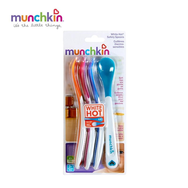 Munchkin White Hot Safety Spoons X 4
