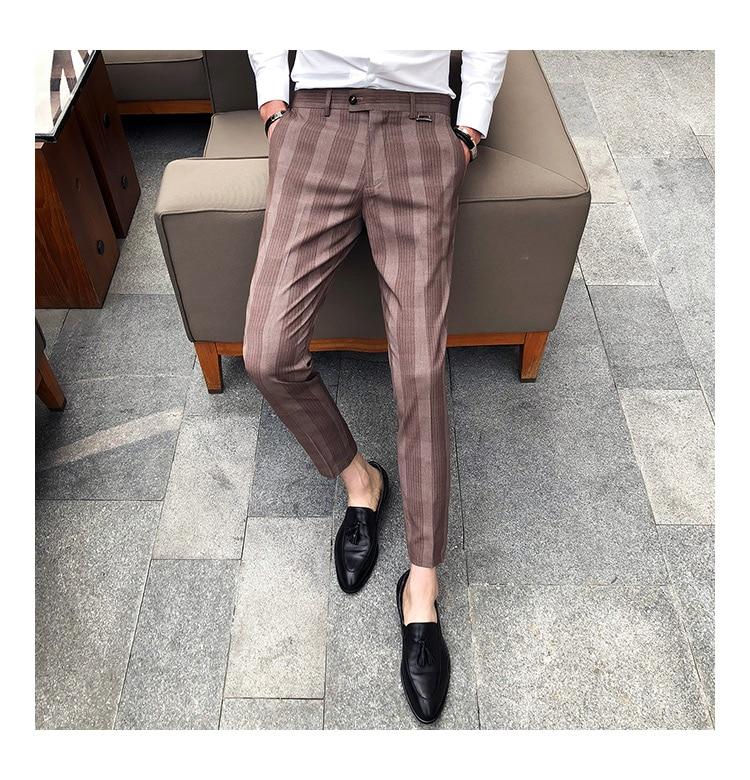 8ec26a86 2018 Summer Plaid Pants Mens Checkered Pants Perfume Men Dress Pants Slim  Fit Pantalon Hombre Vestir Casual Mens Trousers Office