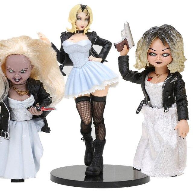 Brincadeira de Criança Semente Filme de Chucky NECA figura horror a Noiva de Chucky Chucky Tiffany BJD Brinquedos Colecionáveis