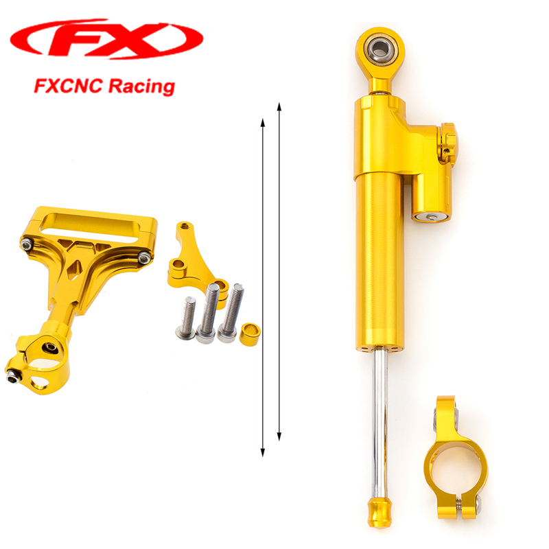 FX CNC Motorcycle Steering Stabilizer Damper Reserved Safety Control Brackets For KAWASAKI Z1000 Z750 2003 2004 2005 06 07 08 09 свитшот reserved