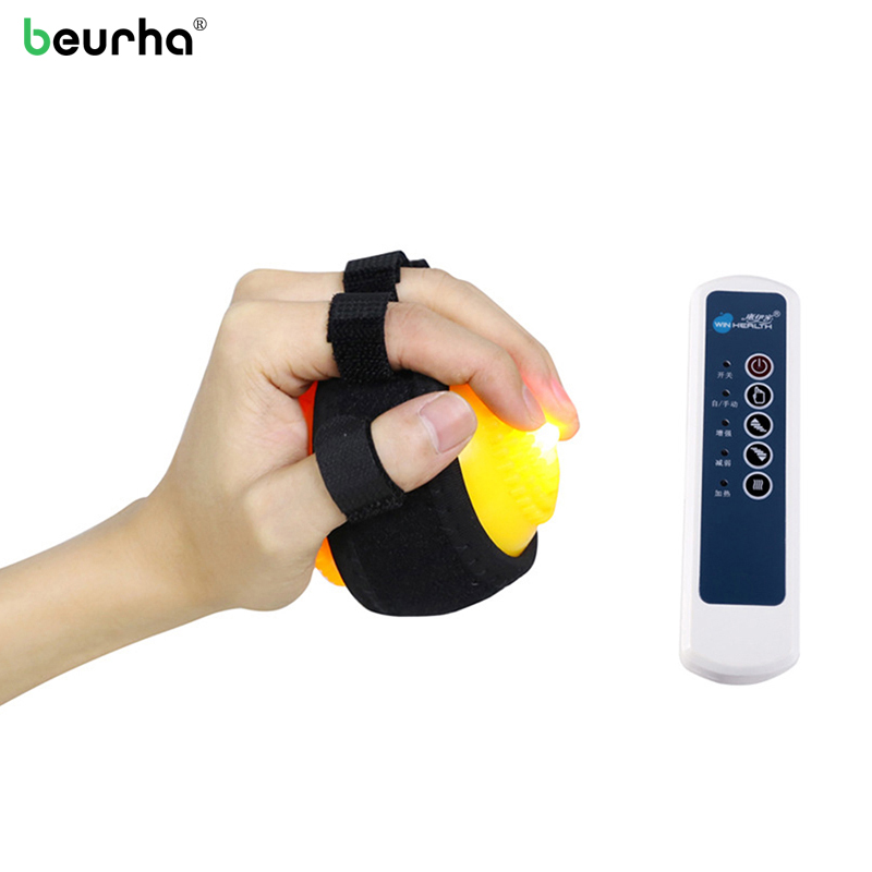 Heating Compress Hand Finger Massage Ball for No Sensory Apoplexy Hemiplegia Inability Curled Physiotherapy Health Relaxation upper lower limbs physiotherapy rehabilitation exercise therapy bike for serious hemiplegia apoplexy stroke patient lying in bed