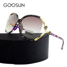 GOOSUN Fashion Polarized Sunglasses Women brand designer Camellia High Quality Big Sunglasses Female UV400 oculos de sol eyewear