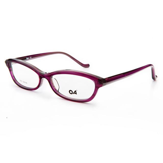 Чашма Черный Фиолетовый очки Кадр Высокое Качество Женщин Моды Ацетат Оптических Очки Тонкие Очки Кадр