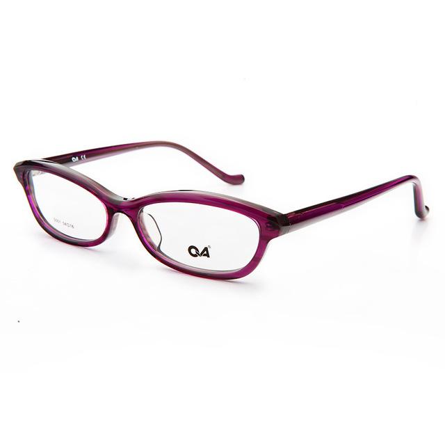 Chashma Negro Púrpura gafas de Acetato De Gafas Ópticas Marco de Alta Calidad Mujeres de La Manera Gafas de Marco Delgado
