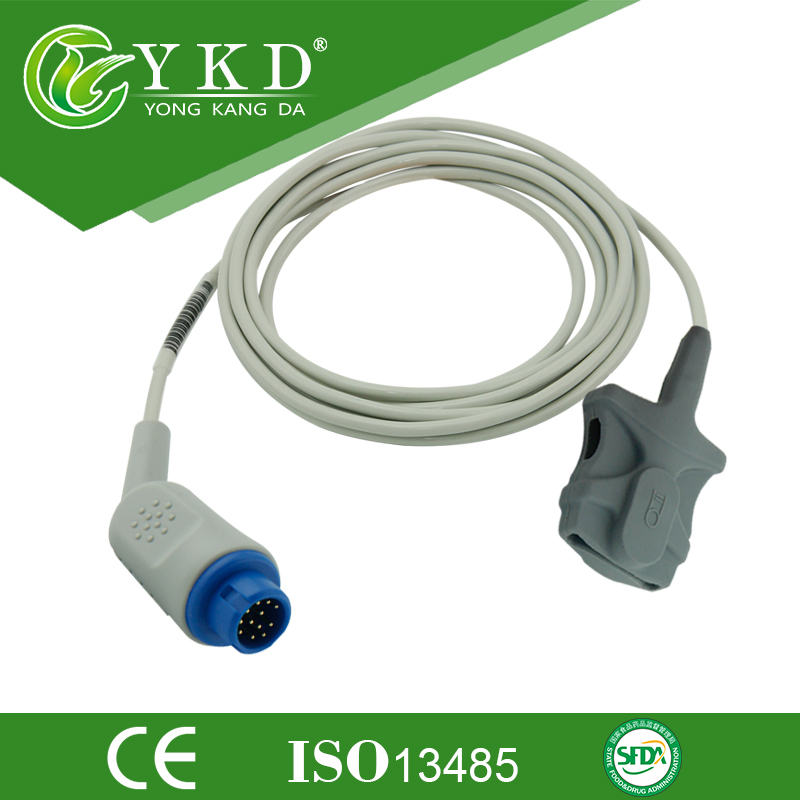Compatible Adult Soft Tip Spo2 Sensor Use For M1190A V24E monitor 12pin
