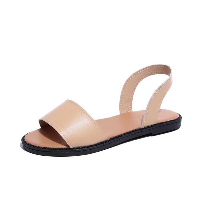 5d15f8eb7089 ... YIdemusha 2019 New Fashion Women Sandals Ladies PU Back Strap Shoes  Flats With Heel Sandals Summer ...