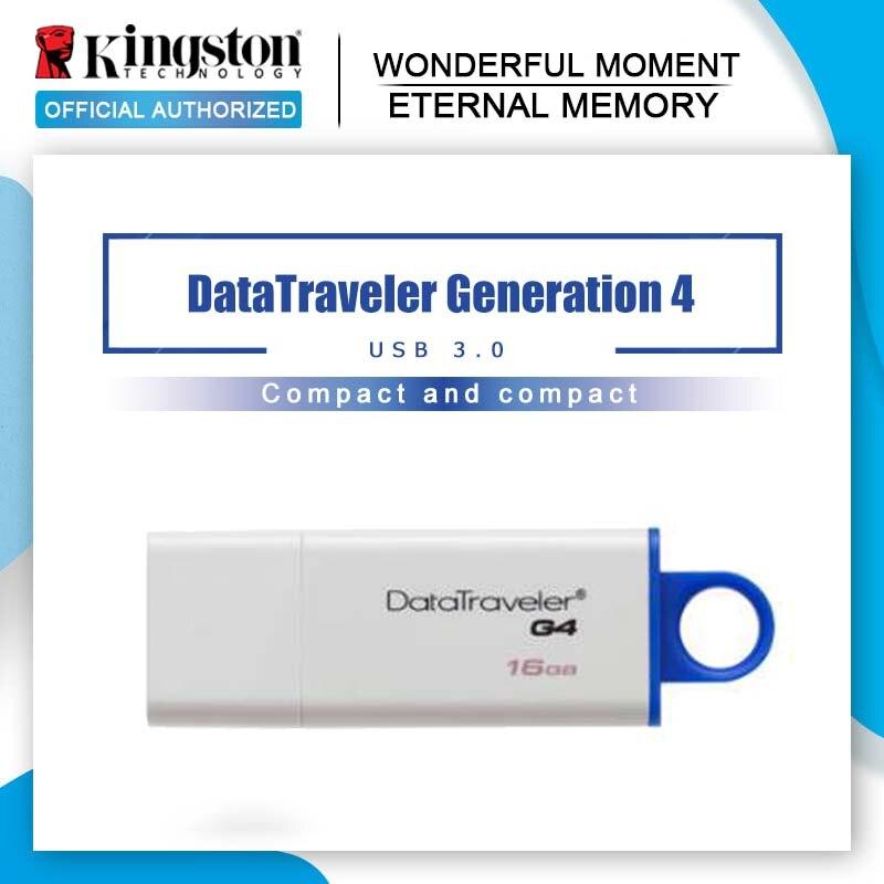 Clés USB Kingston 32GB USB 3.0 8GB 16GB PenDrives 64GB 128GB datavoyageur G4 capuchon pratique en plastique lecteurs de stylo disque mémoire