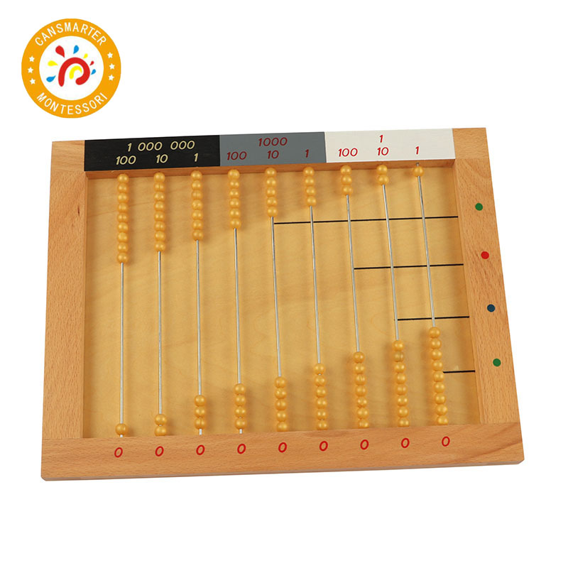 Montessori plat perle cadre mathématiques jouets petite enfance éducation préscolaire formation apprentissage jouets