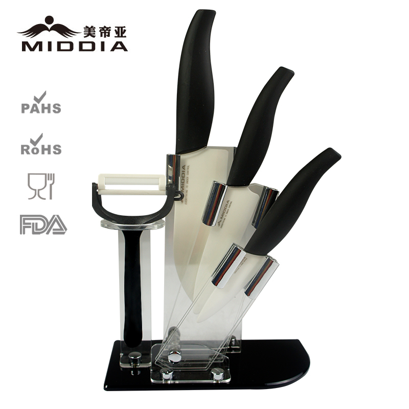 Middia 5pcs ceramic font b knife b font set with block ceramic paring font b knife
