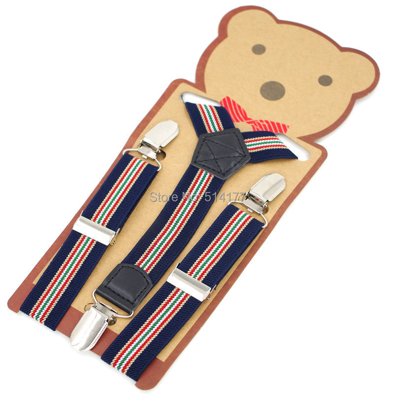 Baby Boy's Suspenders Kids Braces Elastic Belts Straps  3clips Children Suspensorio Student Tirantes Fit For Height 75-135cm
