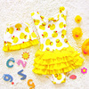 Girls One Piece Swimsuit Dreamstime Yellow Duck Female Swimwear Swimsuit One Piece Sexy Princess Ruffle One