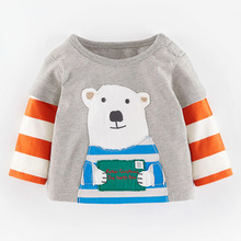 kidst shirt 2016 new babys' fashion t shirts baby bear printed floral boys girls t-shirts children casual clothing