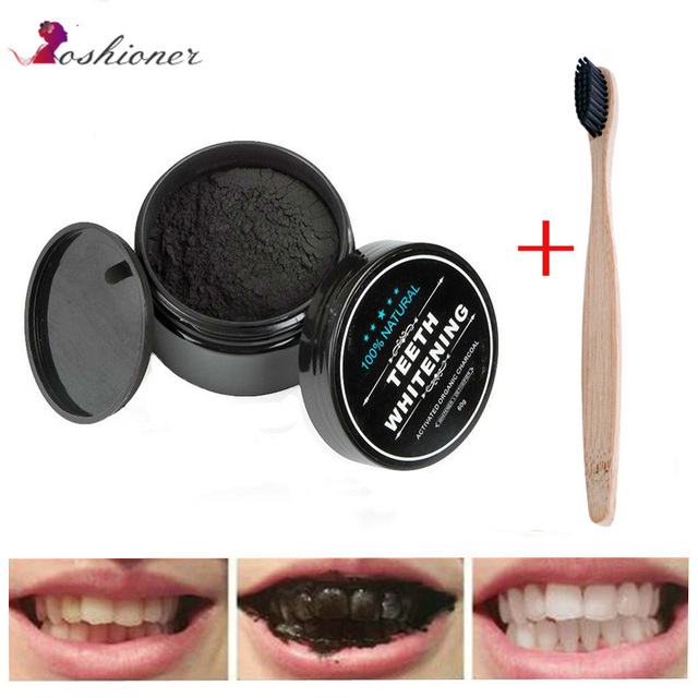 1 unids UNIDAD DE Blanqueamiento Dental Cuidado Oral polvo de carbón Natural activado carbón blanqueador en polvo higiene bucal