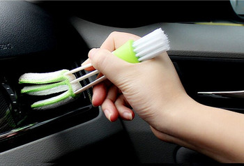 Car Air Conditioner Vent Slit Cleaner Brush Stickers For Mercedes-Benz W177 W176 W169 W242 W246 W245 C204 W204 S204 Accessories image
