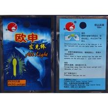 20pcs/ Lot 3.0*25mm Luminous Stick Fluorescent Chemical Wand Big Head Glow Stick Green Lighting Fishing Float accessories