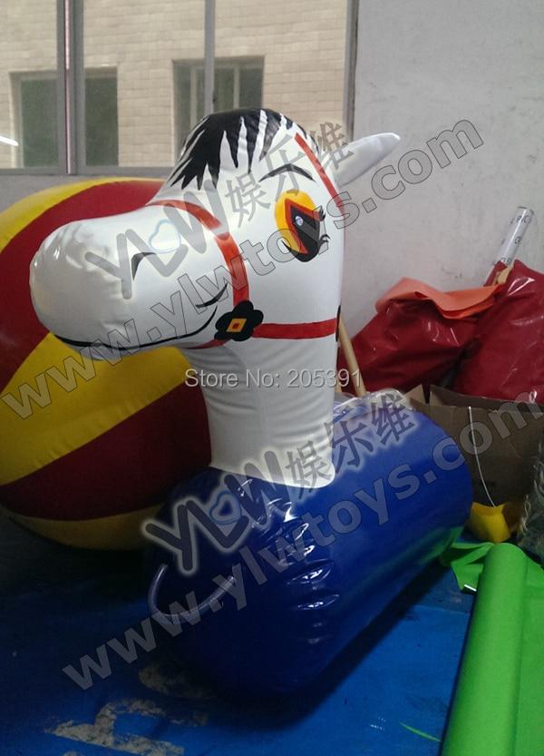 Poney/cheval gonflable étanche à l'air, poney gonflable pour jeux de compétition YLW-poney hop