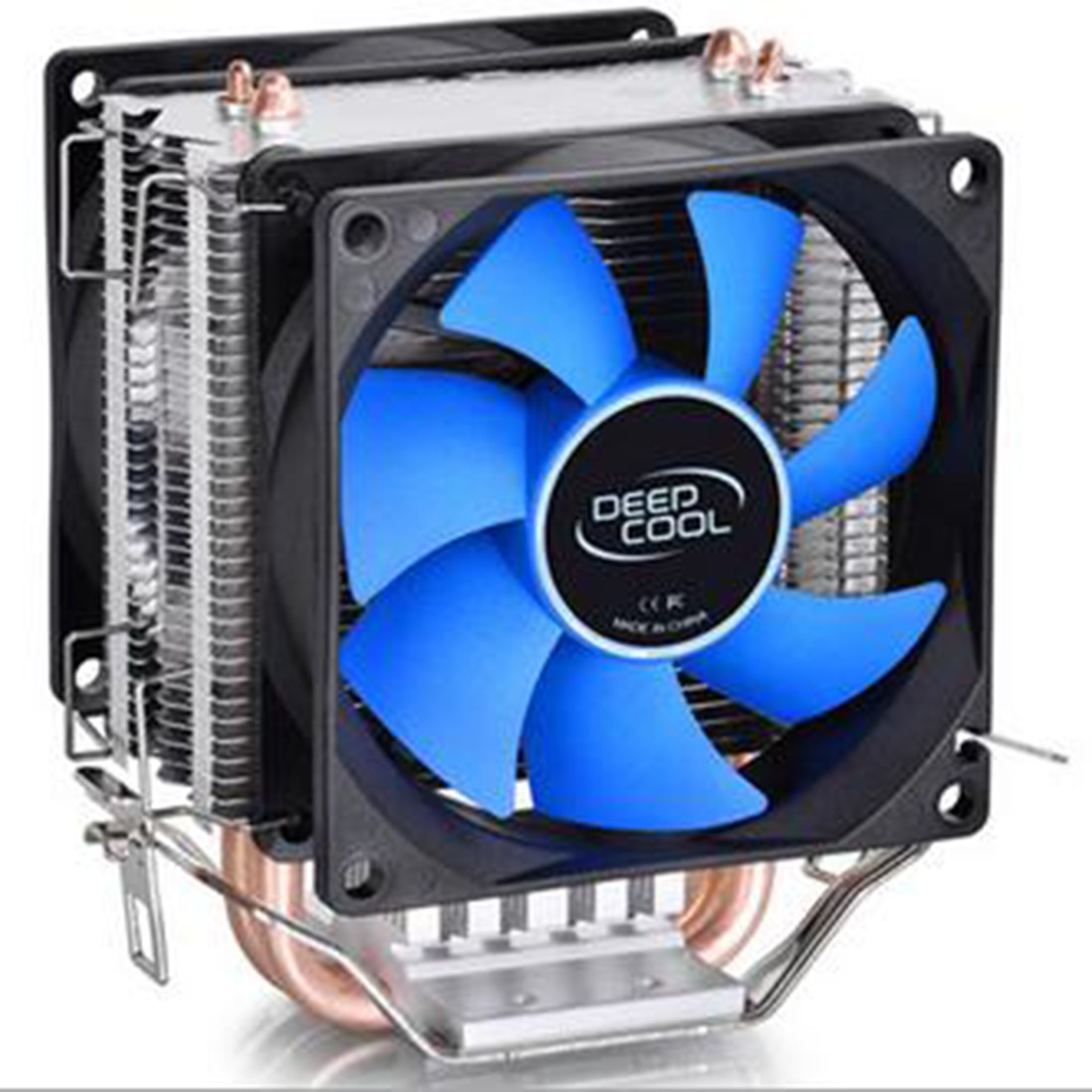 CPU Cooler Fan Double Heat Pipe Radiator for Intel LGA 775/115x AMD 754/940/AM2+/AM3/FM1/FM2 Cooling huanghai luxury cpu radiator 775 115x cpu fan 4 heat pipe intelligent led fan