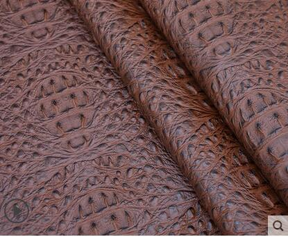 Crocodile synthetic faux DIY leather fabrics Imitation soft bag background wall decoration waterproof artificial leather B016 in Synthetic Leather from Home Garden