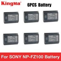 KingMa 6 шт. NP FZ100 NPFZ100 NP ФЗ 100 Батарея для sony A7R III A7 III BC QZ1 A9 A9R Alpha9 alpha9R Alpha 9 s A7RM3 Камера