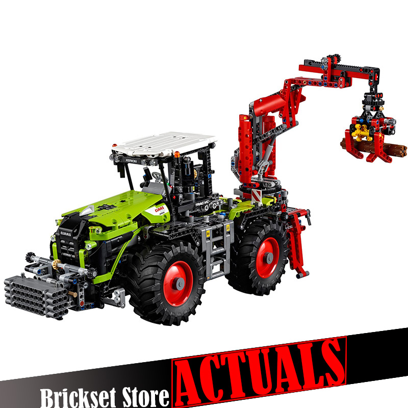 LEPIN 20009 Tractor Model Motor Creator Technic Model Building Blocks Bricks Toys diy For Kid 1977PCS Compatible legoINGly 42054 lepin 20009 1977pcs technic series the tractor model building blocks bricks compatible with 42054 boy s favourite