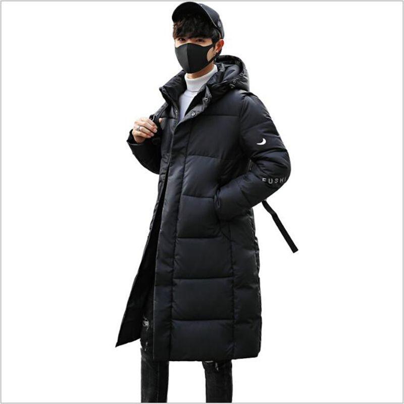 Section Longue Casacos Capuche 2018 Ciel Chaude rouge Hommes Coton Noir Polyester pu Vente Glissière Épais bleu Manteau Vestes Fermetures D'hiver Veste À De Nouveaux OxfOAqr