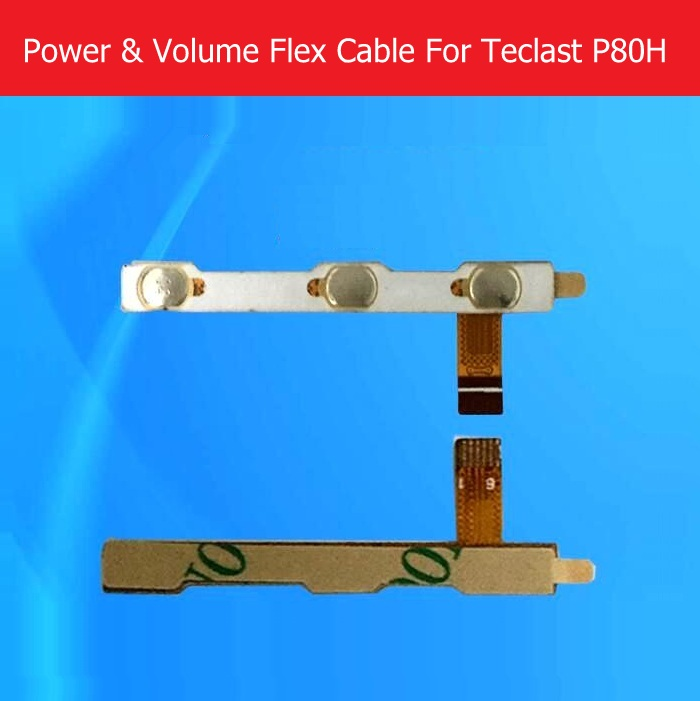 100% Genuine switch on Power Flex cable For Teclast P80H 8.0 side key flex cable For Teclast p89H Volume flex cable Replacement replacement audio earphone jack power volume key flex cable for iphone 3gs golden white