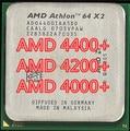 Бесплатная доставка AMD Athlon 64X2 4400 + AM2 940-контактный двухъядерный настольный компьютер CPU