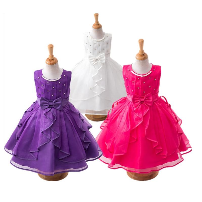 a7ced44a9416 Summer dress 2017 New Girls dresses kids girl princess dress 3 color ...