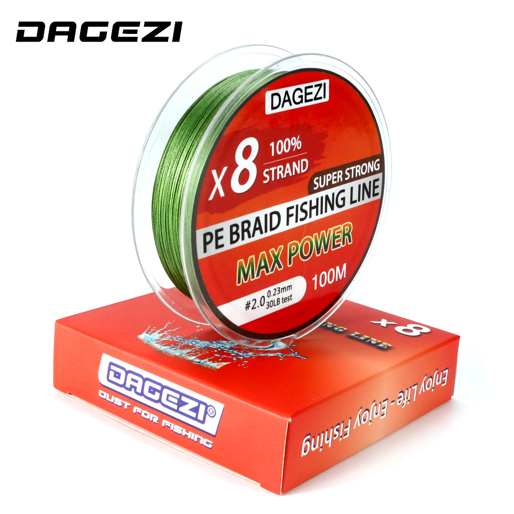 DAGEZI 100m 8 strand 10-80LB Super Strong PE braided fishing lines Japanese Multifilament Fishing Lines 6 colors парогенератор с утюгом domena initial 140 pro