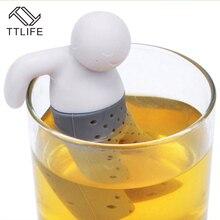 TTLIFE 2016 New 1pc Practical Tea Infuser Cute Mr Tea Strainer Safe Food Grade Silicone Convenient