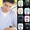 14 colores Cubo Mágico Fidget un vinilo juguete de escritorio nueva caliente Fidget Cubo anti irritabilidad cobe juguete mágico Divertido Estrés Relevista de Regalos