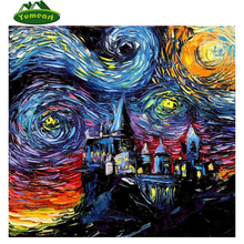 Handmade Diamond Painting Cross-Stitch Harry Potter 3D Diy Kit Snowman Diamond Embroidery Sets for Embroidery Mosaic Picture(China)