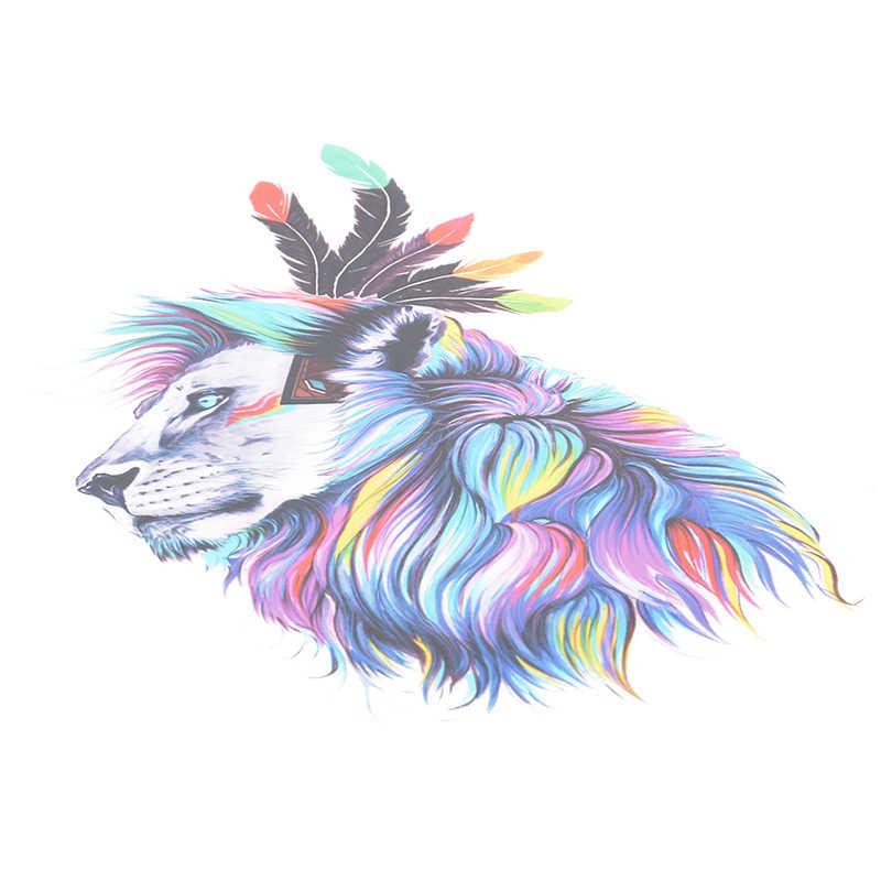 Acuarela León Animal planchado pegatinas parche ropa hogar hierro-on calor transferencia DIY decoración apliques Parches para abrigo