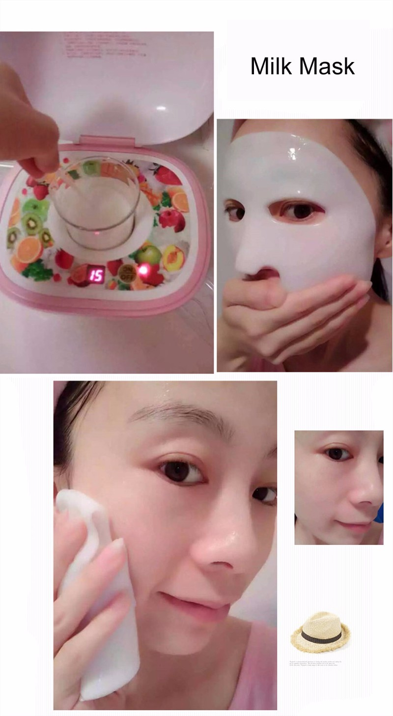 DIY Fruit Facial Mask Machine Maker Vegetable Skin Care Tool Moisturizing Whitening 16