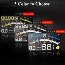 """4E 5.5 """"Head Up Display HUD OBD II EOBD Parabrisas Proyector Auto-adaptable Parámetro Display Exceso de velocidad de Advertencia + Soporte de Combustible Del Coche"""