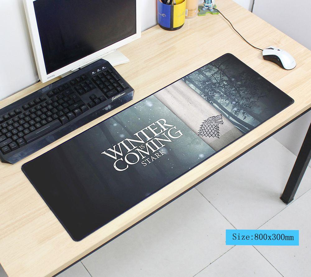 Game of Thrones souris pad 80x30 cm pad pour la souris notbook ordinateur tapis de souris locrkand gaming padmouse gamer à clavier souris tapis
