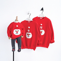 HT41 Rodzina Zima Pasujące Stroje Stroje Kostium Christmas Grubsze Ciepłe Rodziny Matka Córka Ojciec Syna Wygląd Xmas Ubrania